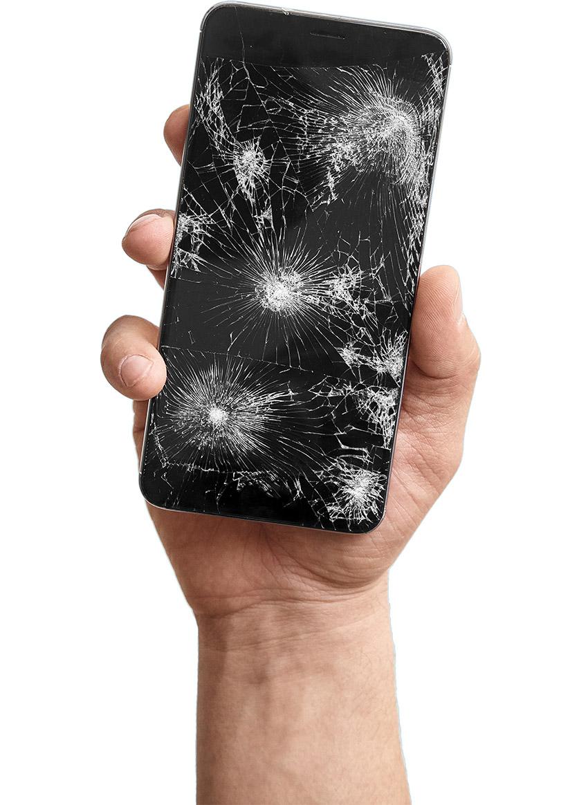 Abbildung defektes Smartphone